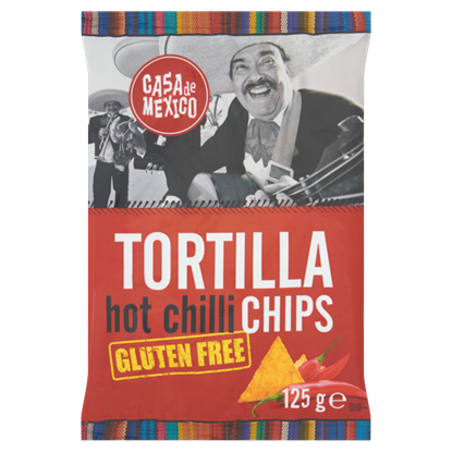 Casa de Mexico Tortilla hot chilli chips Bezglutenowe chipsy kukurydziane 125 g