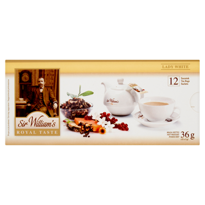 Sir William's Royal Taste Lady White Herbata 36 g (12 saszetek)