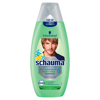 Schauma Anti-Dandruff x3 Fresh Citrus Szampon 400 ml